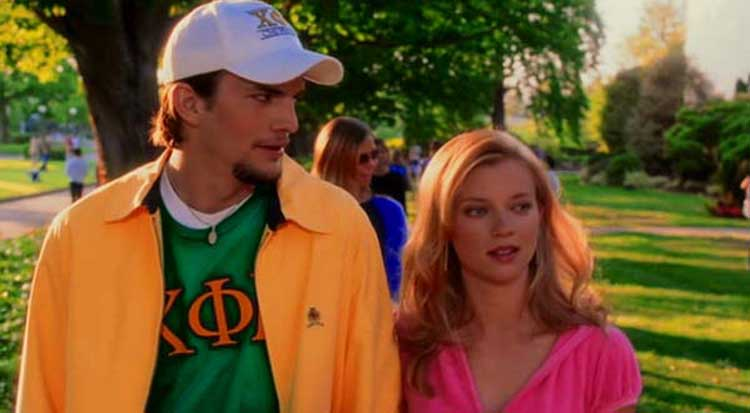 Ashton Kutcher and Amy Smart are trapped in the darkest timeline in The Butterfly Effect.