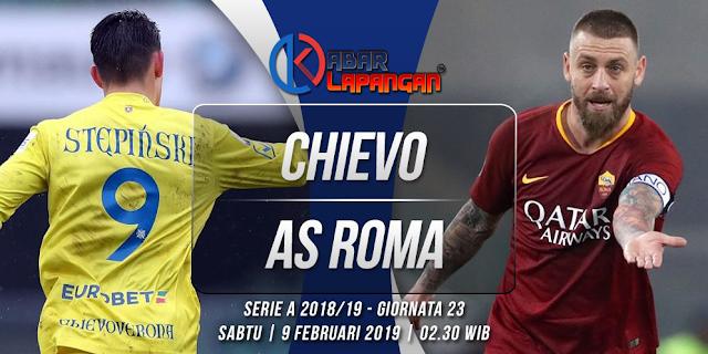 Prediksi Bola Chievo vs AS Roma Liga Italia