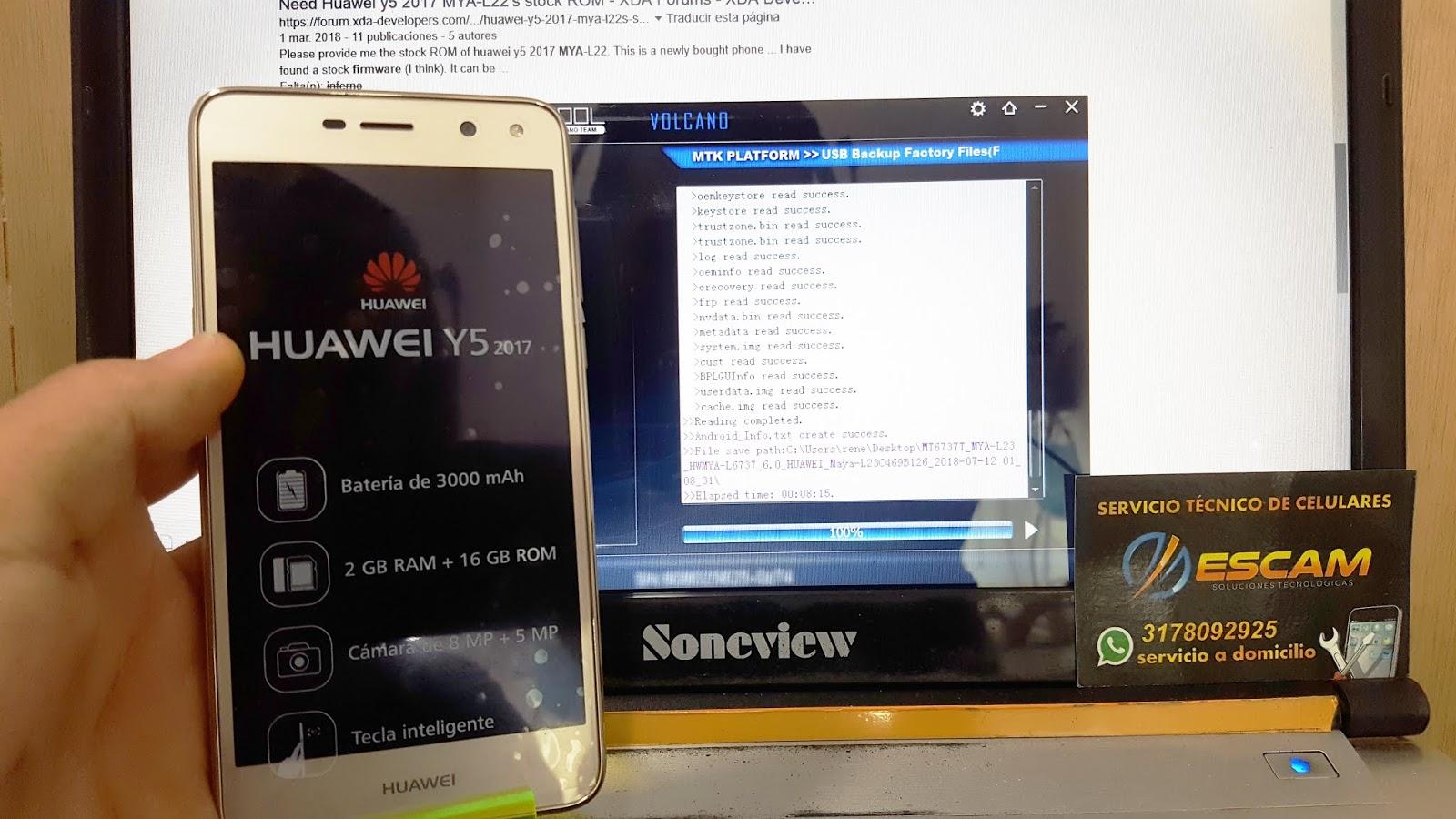 HUAWEI MYA-L23 Revivir y/o Actualizar (UPDATE APP / INFERNO
