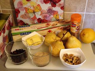 Bollos de pera , ingredientes