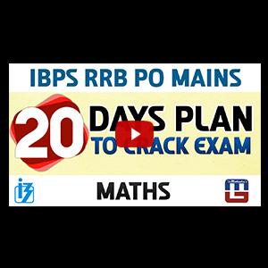 20 Days Plan to Crack Exam | Maths | IBPS RRB PO MAINS 2017
