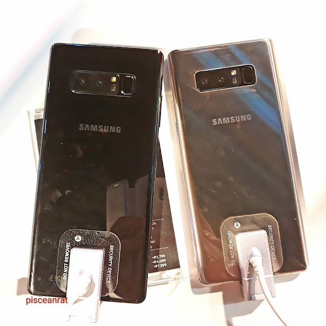 samsung galaxy note8 colors, Midnight Black and Maple Gold,