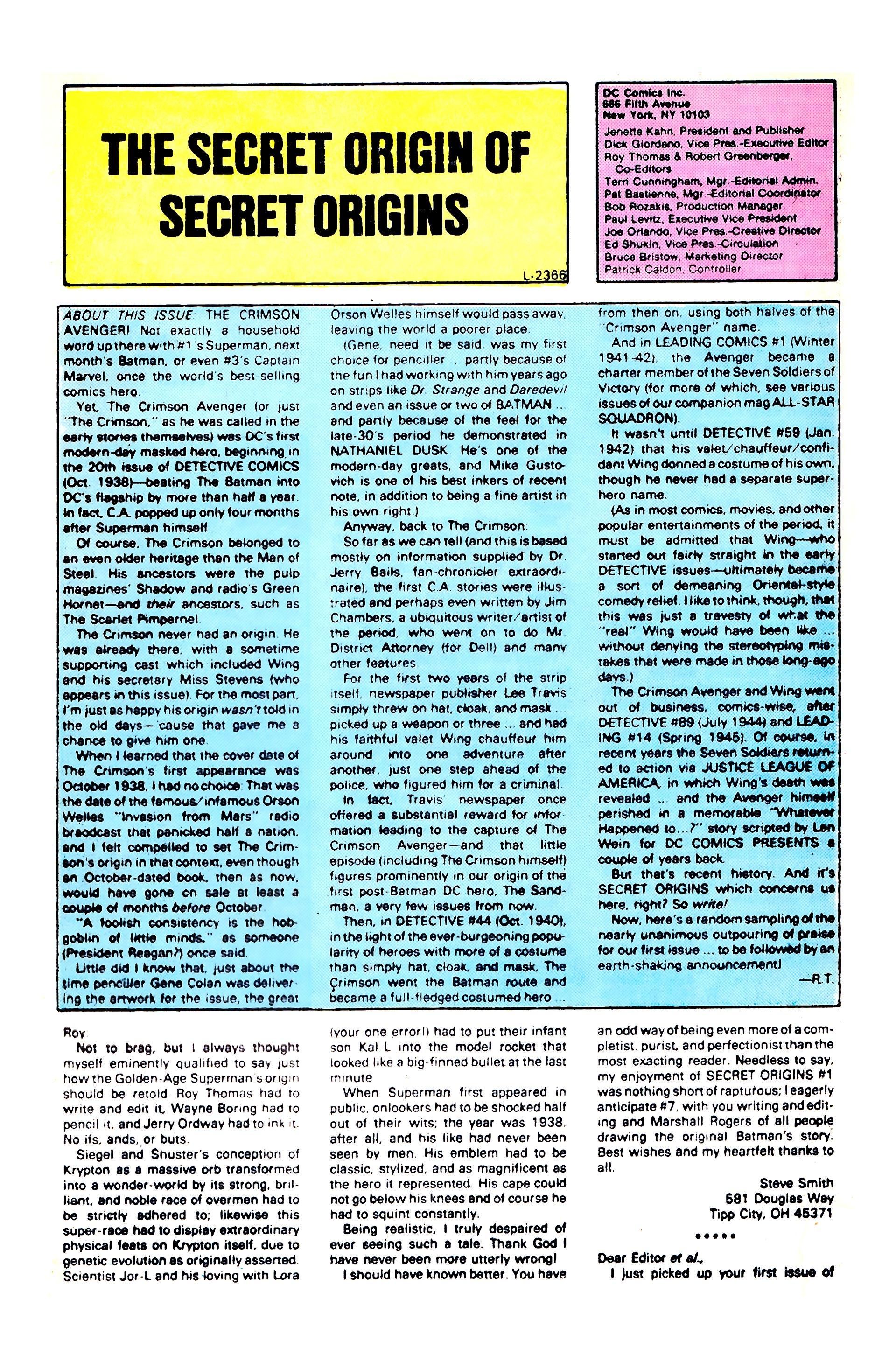 Read online Secret Origins (1986) comic -  Issue #5 - 33