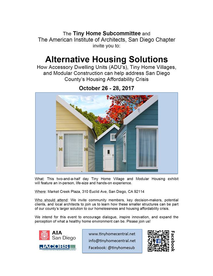 flyer for alternative housing solutions in San Diego