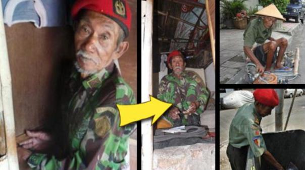 KETERLALUAN,!! Kisah Kakek Arsilan, Pejuang Kemerdekaan RI Yang Kini Tinggal di Gubug!