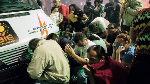 Violence erupts in Brazil after general strike 1