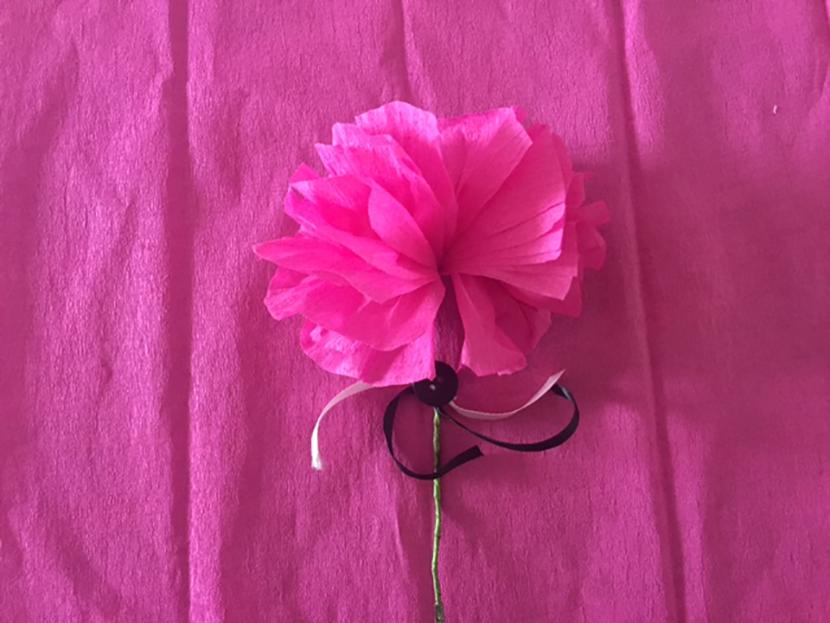 Tutorial flores de papel crepé