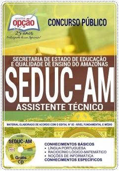 Apostila concurso Seduc-AM - Assistente Técnico