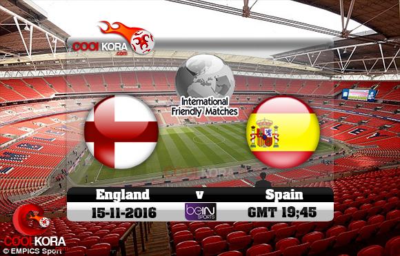 مشاهدة مباراة إنجلترا وأسبانيا اليوم 15-11-2016 مباراة ودية