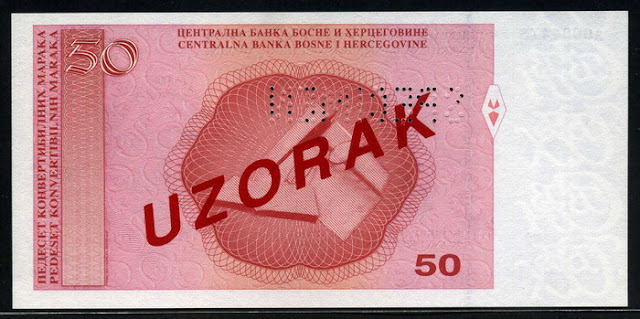 Bosnia and Herzegovina 50 Convertible Mark Maraka banknote bill