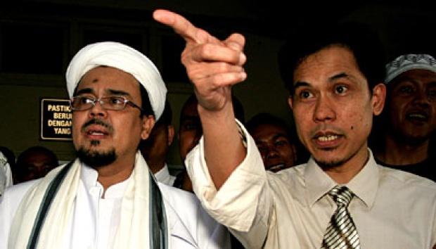 Habib Rizieq Dipolisikan Soal Ceramah Palu Arit, Munarman Membela
