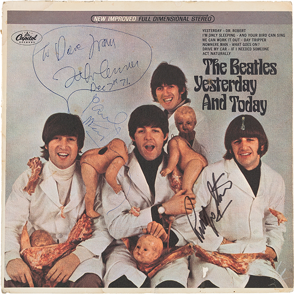 L'album « Yesterday and Today » signé de trois Beatles en vente