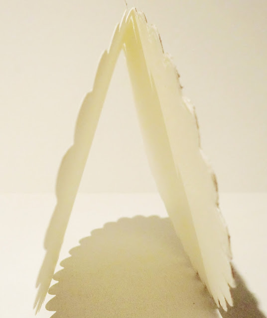 Vista lateral de la tarjeta abierta