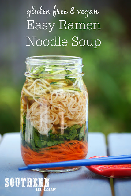 Easy Homemade Ramen Noodle Soup Recipe - gluten free, vegan, vegetarian, clean eating recipe, low fat, egg free, dairy free, nut free, cheap, simple, healthy