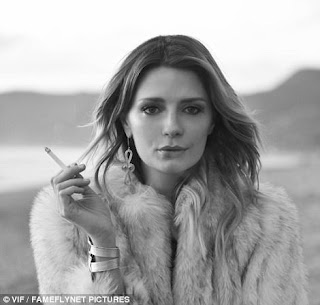 Mischa Barton poses for bikini shoot in Malibu.