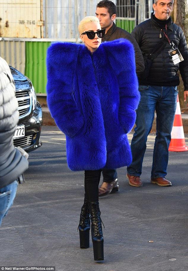 Rihanna who? Lady Gaga rocks huge Saint Laurent coat worth N9m