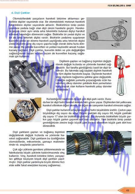 Öğün Yayınları 8. Sınıf Fen Bilimleri Ders Kitabı Cevapları Sayfa 49