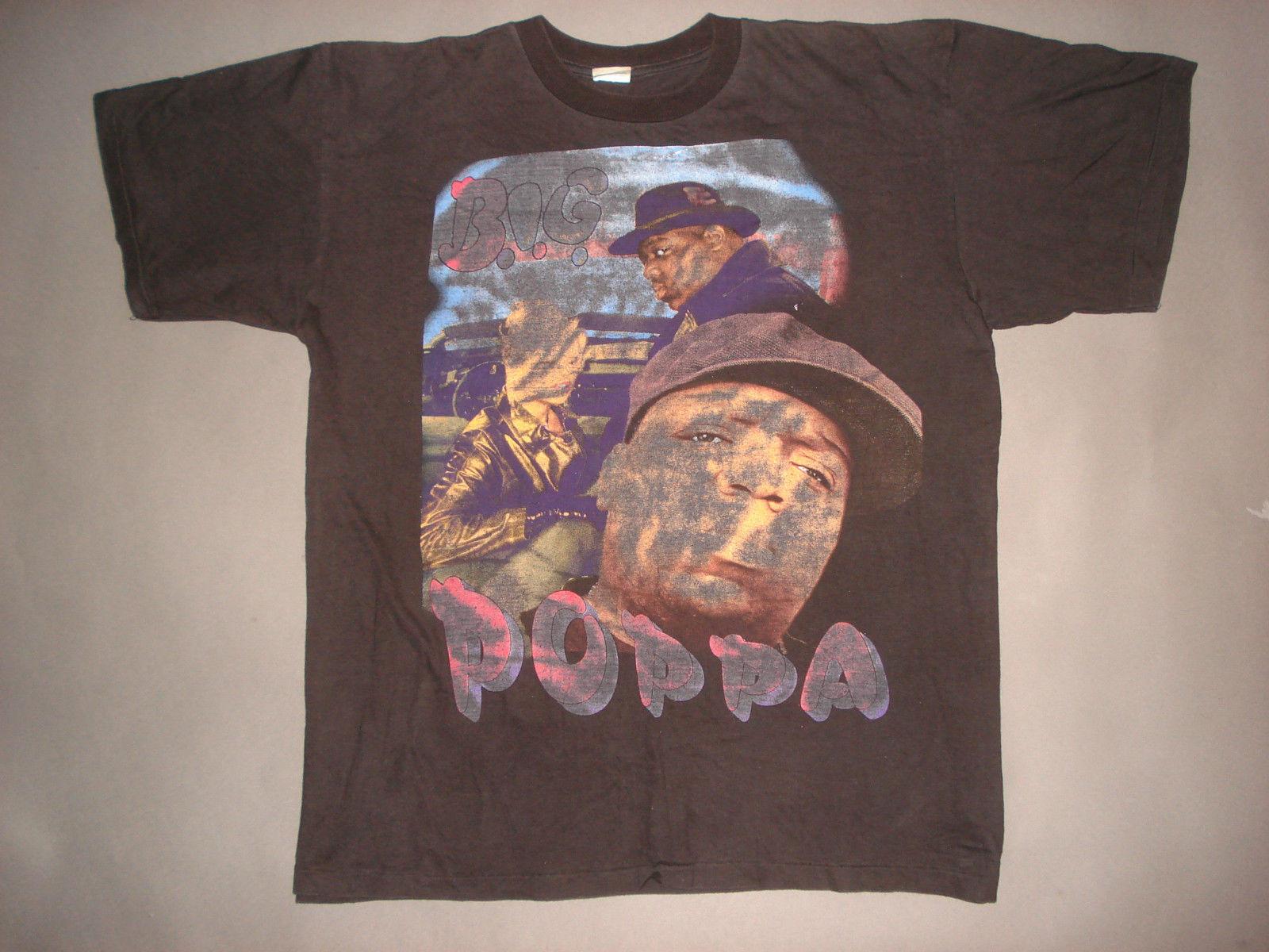 4ea8b067 Vintage 90s NOTORIOUS BIG T SHIRT Biggie Smalls RAP Hip Hop CONCERT Big Papa