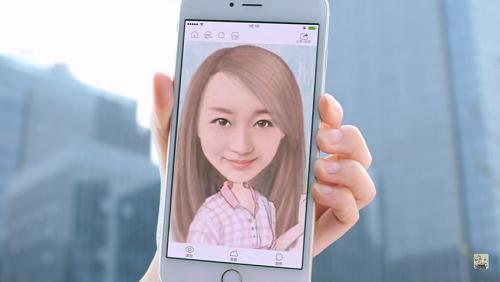 aplikasi Momentcam kartun