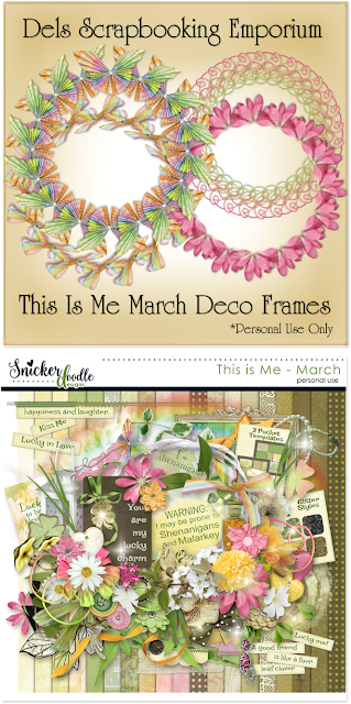 This Is Me March Deco Frames