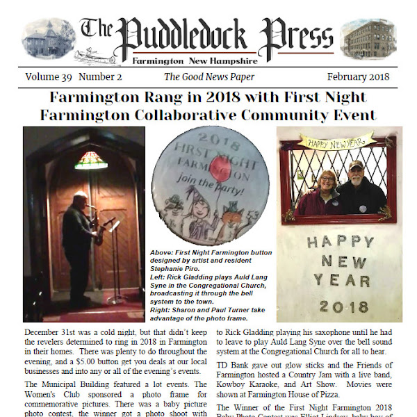 The February Edition of the Puddledock Press is Available Online an in Town