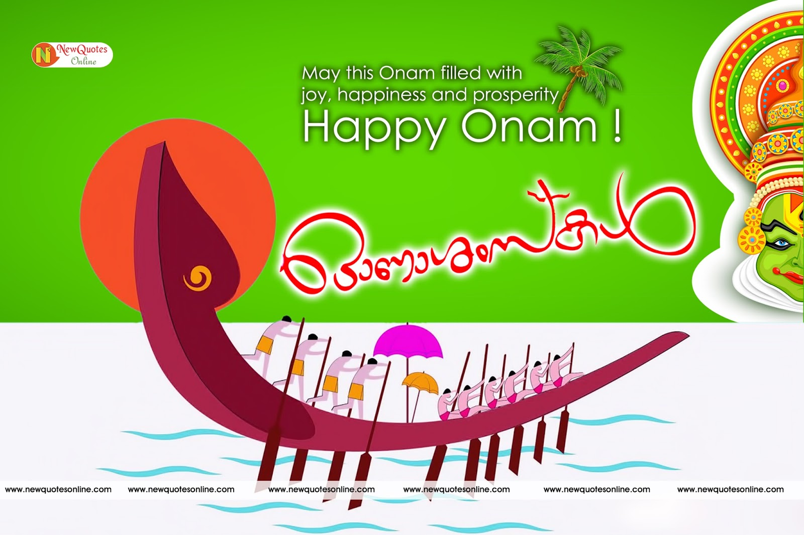 Happy Onam Wishesgreetings In English And Malayalam Images Download