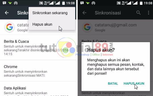 Cara logout gmail di smartphone android dengan mudah