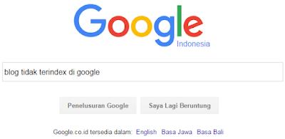 Penyebab Blog Tidak Terindex di Google dan Cara Mengatasinya