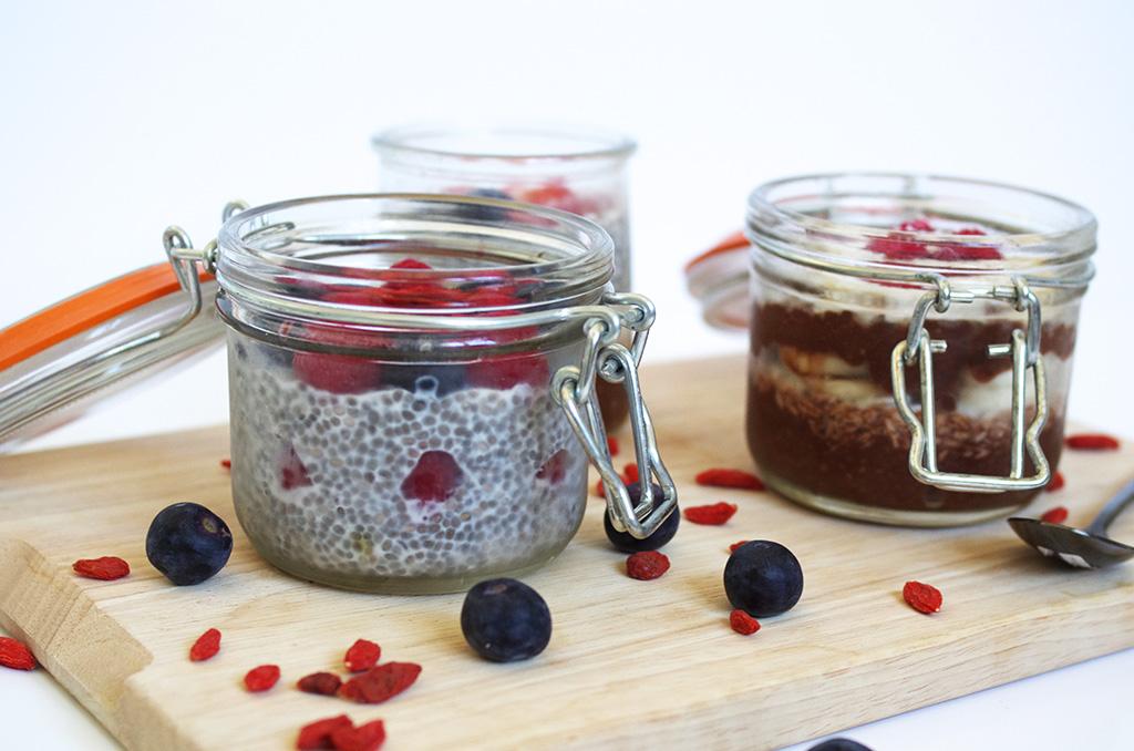 Elizabeth l Chia pudding recipe l chia seeds raspberries blueberries goji berries coconut milk almond milk recette l THEDEETSONE l http://thedeetsone.blogspot.fr