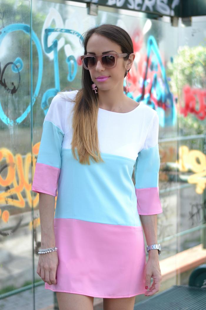 rosa quarzo placid blue outfit