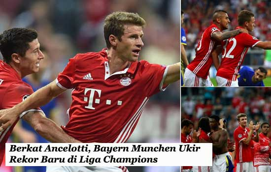 Berkat Ancelotti, Bayern Munchen Ukir Rekor Baru di Liga Champions