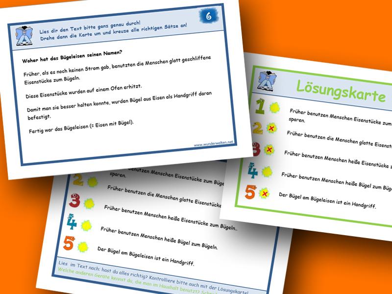 Arbeitsmaterial Für Die Grundschule Bzw Volksschule Lesekartei 3