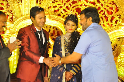 Chiranjeevi-in-producer-krishna-reddy-son-bhuvan-sagar-sindhusha-wedding-reception-held-hyderabad