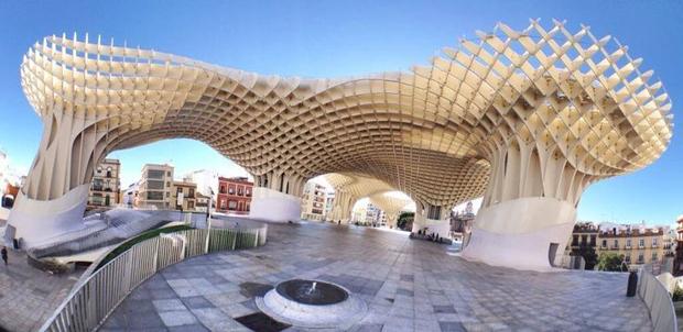 Espaço Metropol Parasol em Sevilha