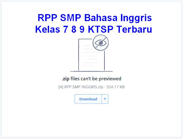 RPP SMP Bahasa Inggris Kelas 7 8 9 KTSP