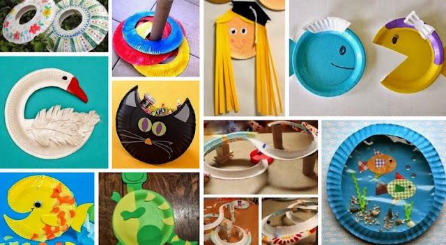 40+ Κατασκευές για παιδιά από πιάτα μιας χρήσης