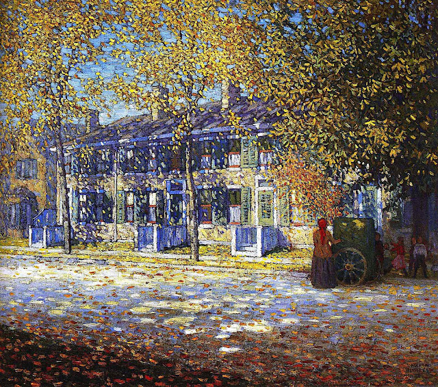 Lawren Harris, Group of Seven Canada, autumn street painting