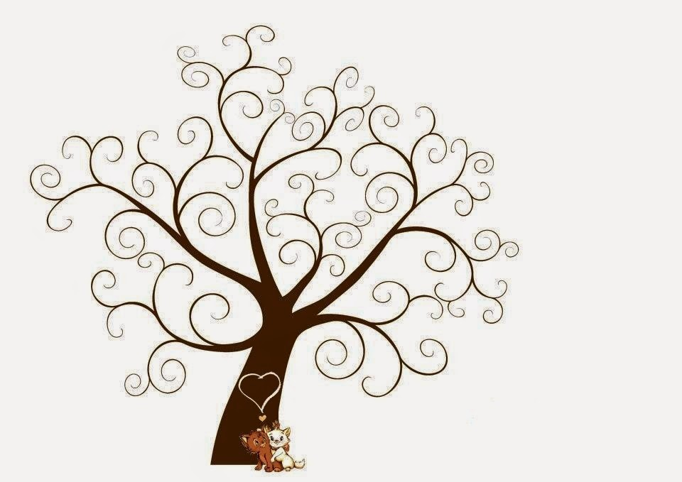 Imagens De Arvore Para Imprimir: DIY: Imagens Árvores E Biclietas Para Convites De Casamento