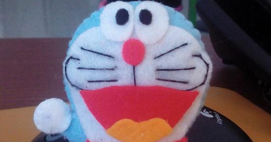 Cara Membuat Boneka Doraemon Dari Kain Flanel