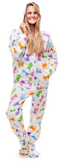 women's footed pajamas