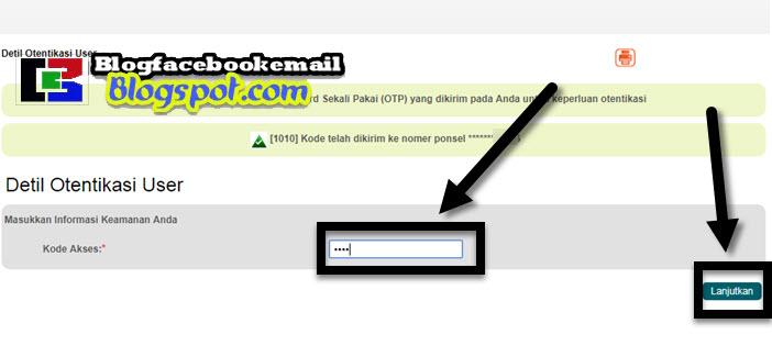 cara memasukkan kode OTP ibank bni online