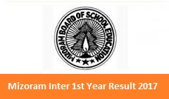 Mizoram Inter 1st Year Result 2017