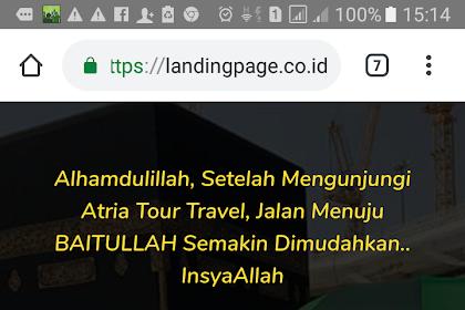Permudah Layanan, Atria Perkenalkan Landing Page Websitenya