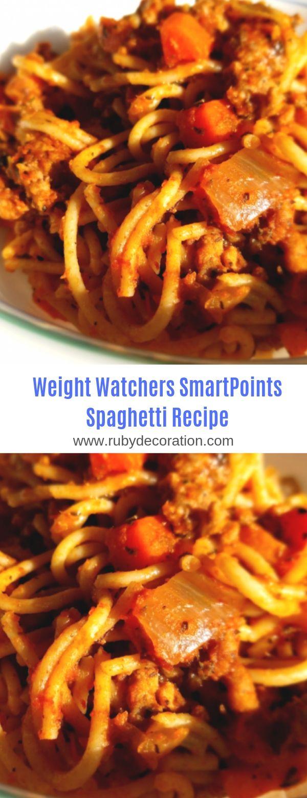 Weight Watchers SmartPoints Spaghetti Recipe