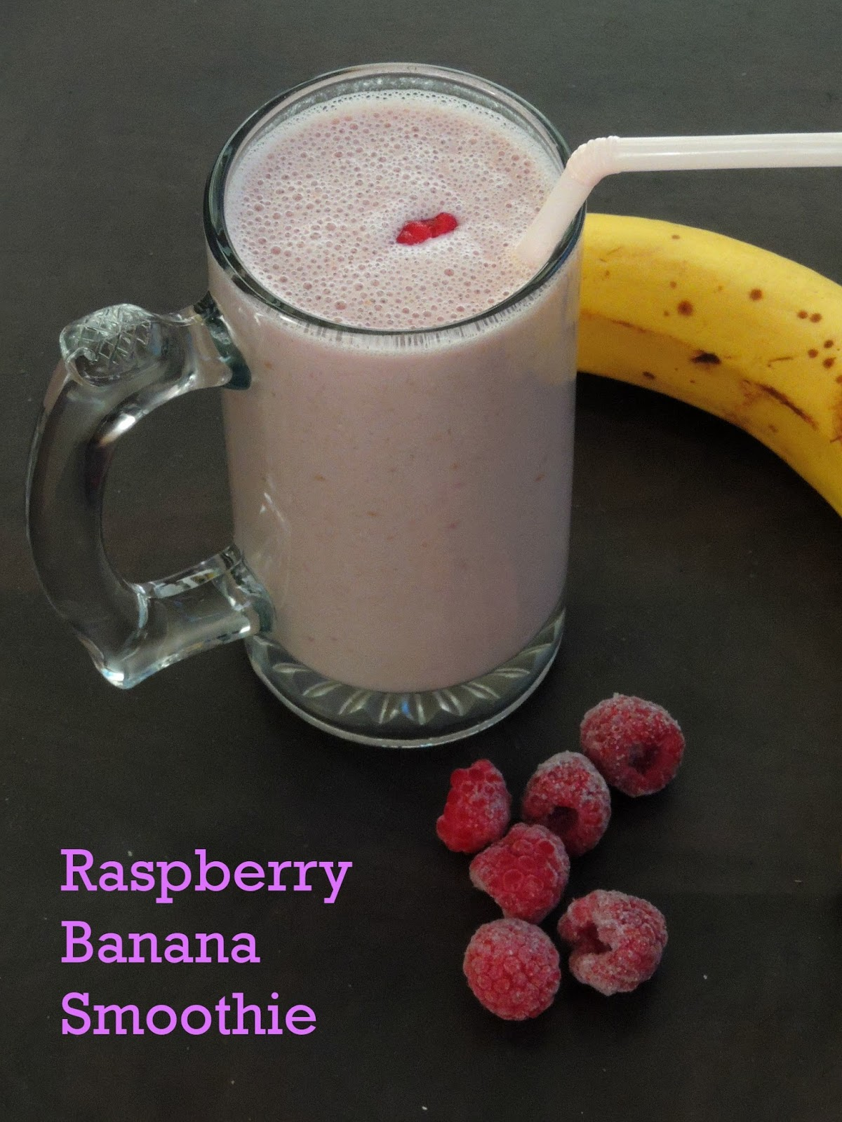 Raspberry Banana Smoothie | Cook N Click