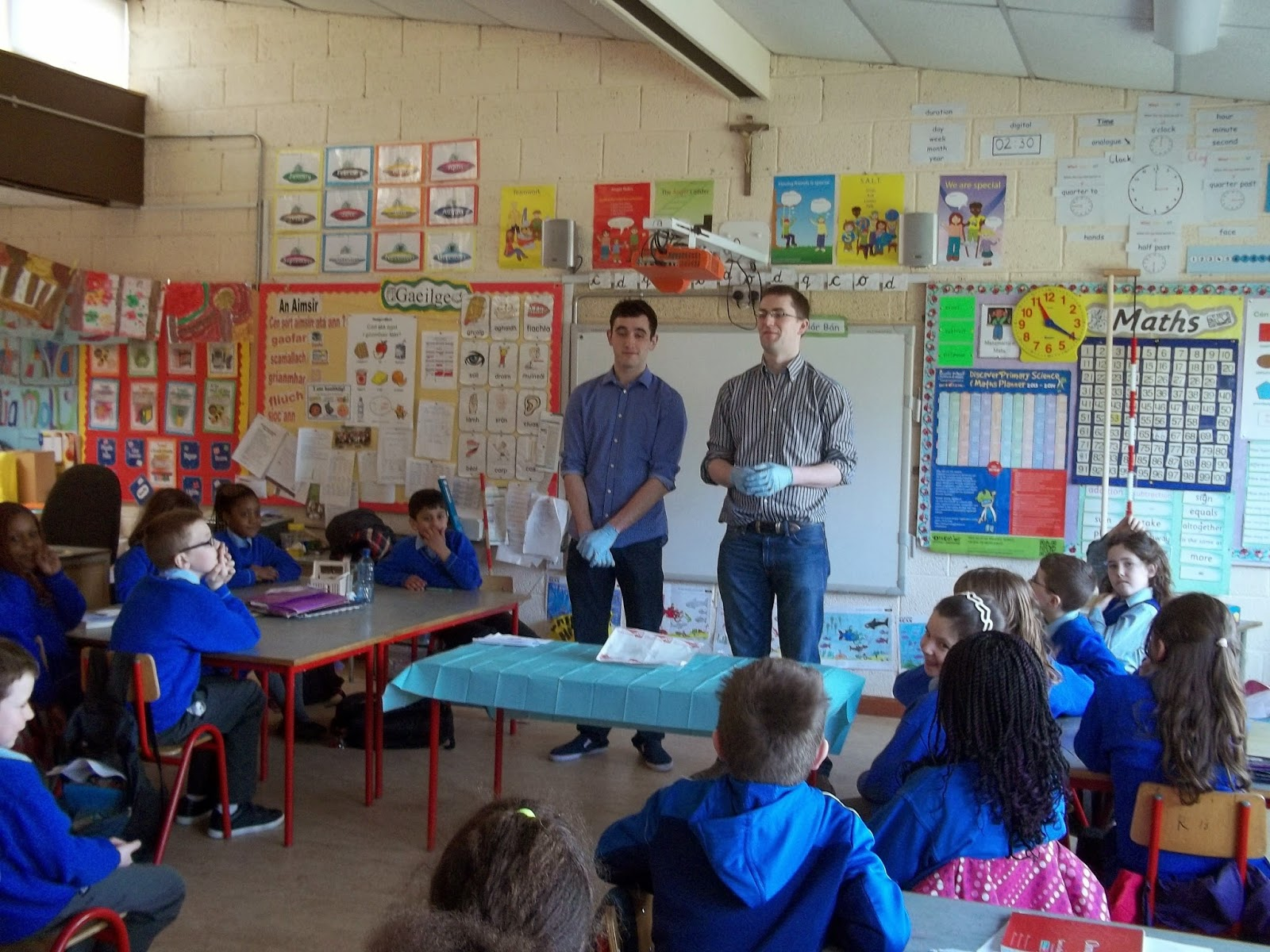 Science Projects: Visit from Medtronic-dissecting a heart