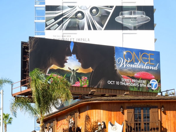 Once Upon a Time Wonderland billboard