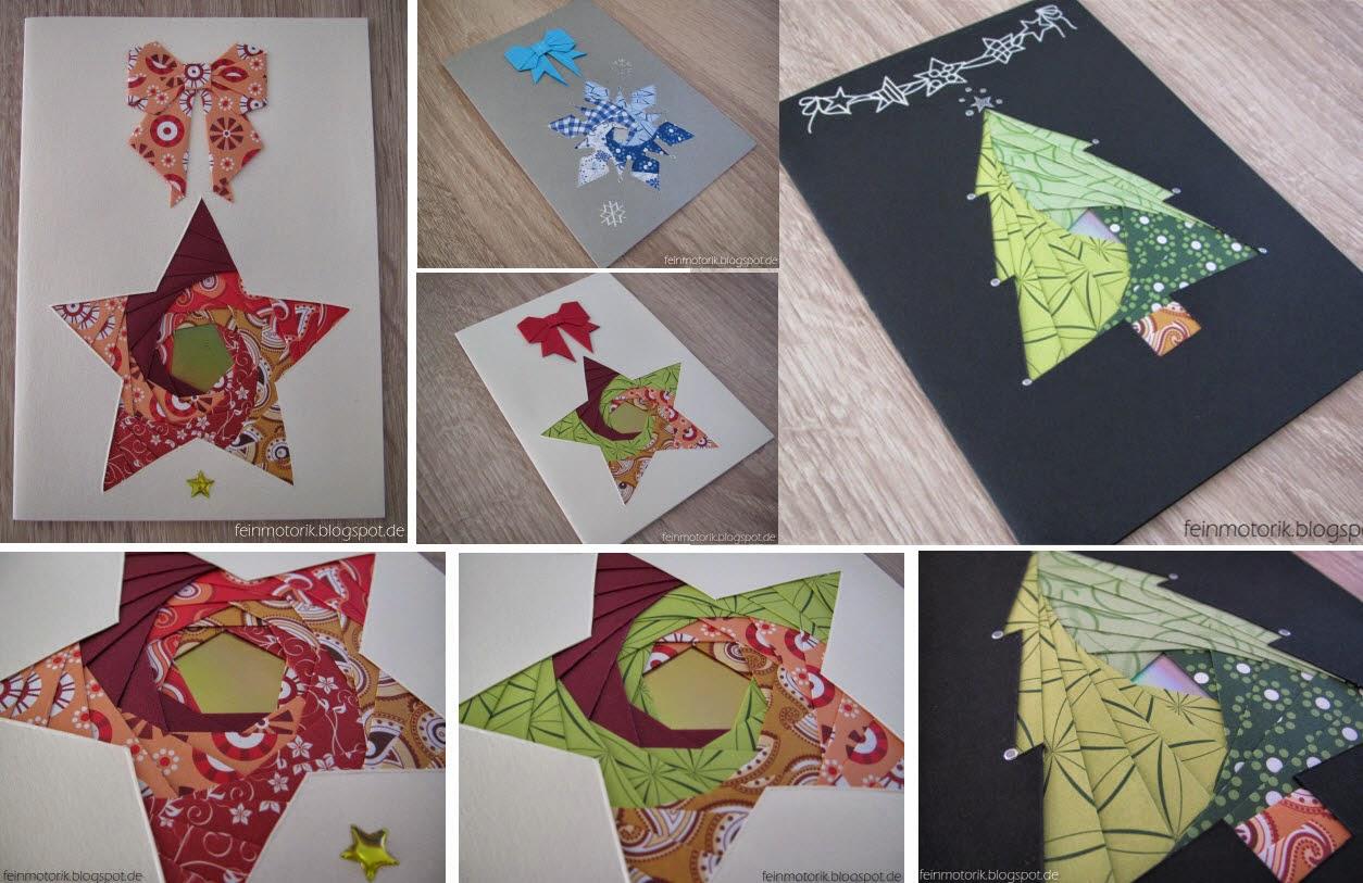 weihnachtskarten mit iris folding. Black Bedroom Furniture Sets. Home Design Ideas