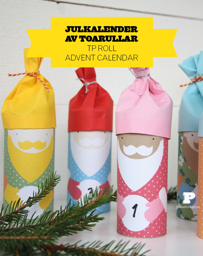 how to make a paper advent calendar kids