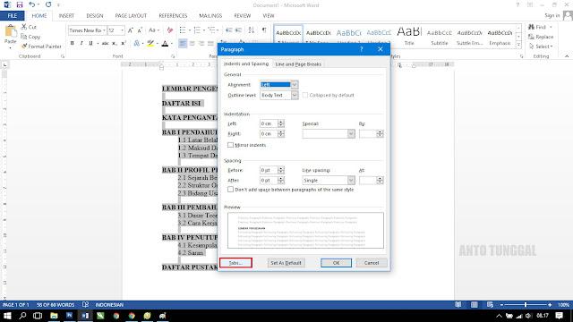 cara membuat daftar isi laporan prakerin makalah pkl